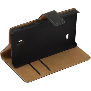 Kunst-Lederhülle X / X+ Wallet schwarz