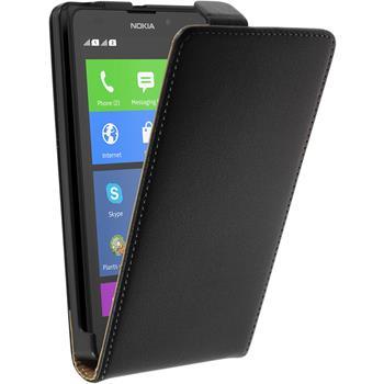 Artificial Leather Case for Nokia XL Flipcase black