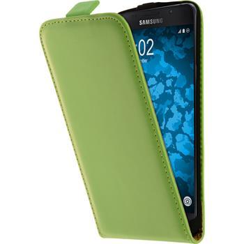 Kunst-Lederhülle Galaxy A5 (2016) A510 Flip-Case grün + 2 Schutzfolien