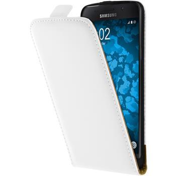 Kunst-Lederhülle Galaxy A5 (2016) A510 Flip-Case weiß