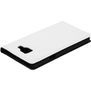 Kunst-Lederhülle Galaxy A5 (2016) A510 Book-Case weiß