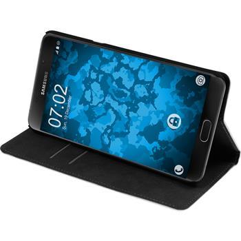 Kunst-Lederhülle für Samsung Galaxy A9 Book-Case weiß Case