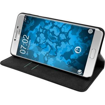 Kunst-Lederhülle Galaxy C7 Book-Case schwarz