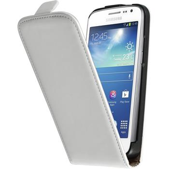 Artificial Leather Case for Samsung Galaxy Express 2 Flipcase white