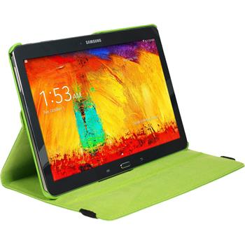 Artificial Leather Case for Samsung Galaxy Note 10.1 2014 360° green