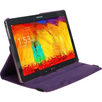 Artificial Leather Case for Samsung Galaxy Note 10.1 2014 360° purple