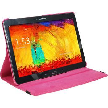 Kunst-Lederhülle Galaxy Note 10.1 2014 360° pink