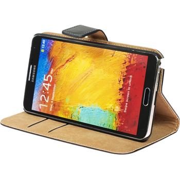 Artificial Leather Case for Samsung Galaxy Note 3 Wallet black