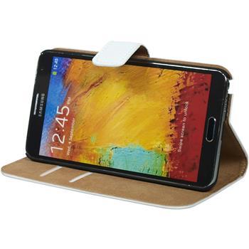 Kunst-Lederhülle Galaxy Note 3 Wallet weiß