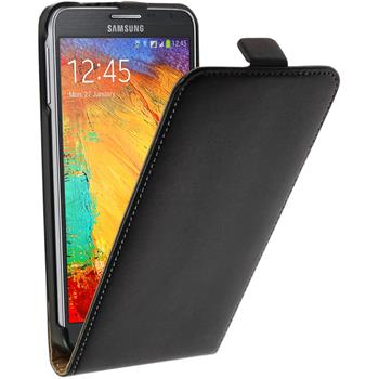 Artificial Leather Case for Samsung Galaxy Note 3 Neo Flipcase black