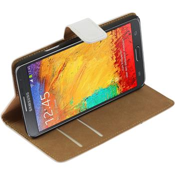 Artificial Leather Case for Samsung Galaxy Note 3 Neo Wallet white