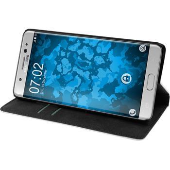 Kunst-Lederhülle Galaxy Note 7 Book-Case weiß