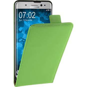 Kunst-Lederhülle Galaxy Note 7 Flip-Case grün