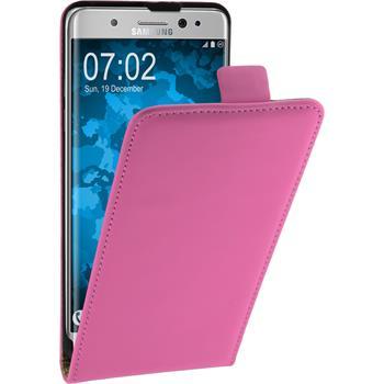 Kunst-Lederhülle Galaxy Note 7 Flip-Case pink