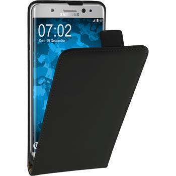 Kunst-Lederhülle Galaxy Note 7 Flip-Case schwarz