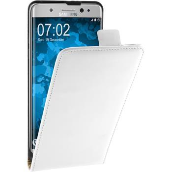 Kunst-Lederhülle Galaxy Note 7 Flip-Case weiß