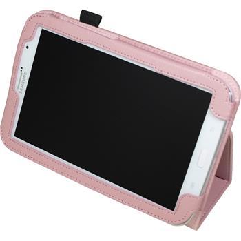 Kunst-Lederhülle Galaxy Note 8.0 Wallet rosa + 2 Schutzfolien