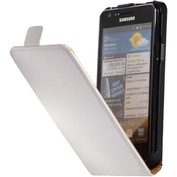 Artificial Leather Case for Samsung Galaxy S2 Flipcase white