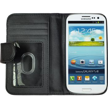 Artificial Leather Case for Samsung Galaxy S3 Wallet black