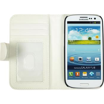 Artificial Leather Case for Samsung Galaxy S3 Wallet white