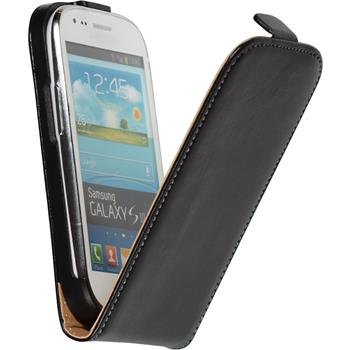 Artificial Leather Case for Samsung Galaxy S3 Mini Flipcase black