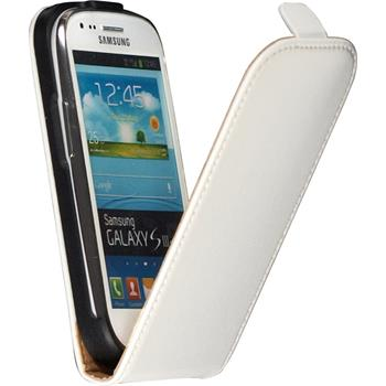 Artificial Leather Case for Samsung Galaxy S3 Mini Flipcase white