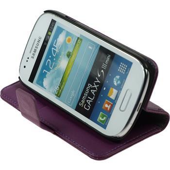 Kunst-Lederhülle Galaxy S3 Mini Premium lila