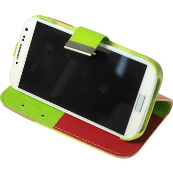 Artificial Leather Case for Samsung Galaxy S4 Wallet Design:02