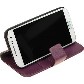 Kunst-Lederhülle Galaxy S4 Premium lila