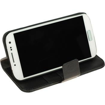 Artificial Leather Case for Samsung Galaxy S4 Premium black