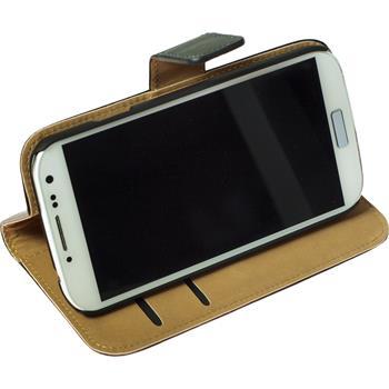 Kunst-Lederhülle Galaxy S4 Wallet schwarz