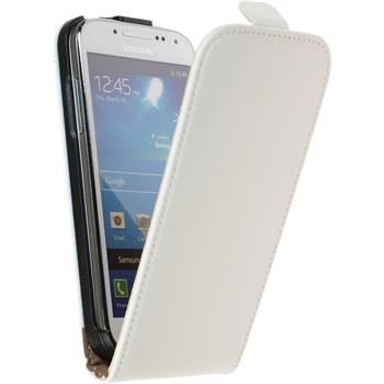 Artificial Leather Case for Samsung Galaxy S4 Mini Flipcase white