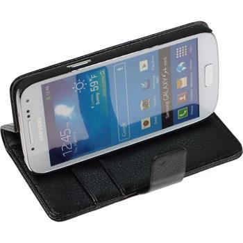 Artificial Leather Case for Samsung Galaxy S4 Mini Premium black