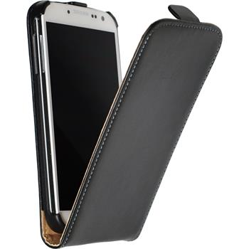 Artificial Leather Case for Samsung Galaxy S4 Flipcase black