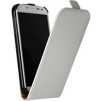 Artificial Leather Case for Samsung Galaxy S4 Flipcase white