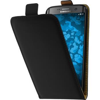 Kunst-Lederhülle Galaxy S7 Edge Flip-Case schwarz