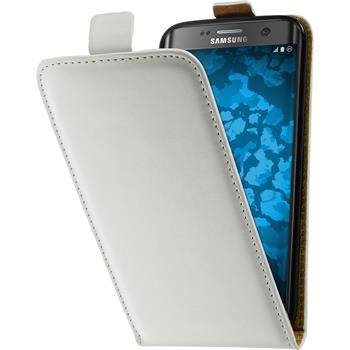 Kunst-Lederhülle Galaxy S7 Edge Flip-Case weiß