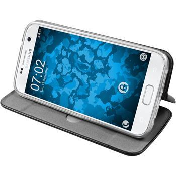 Kunst-Lederhülle Galaxy S7 Etui schwarz