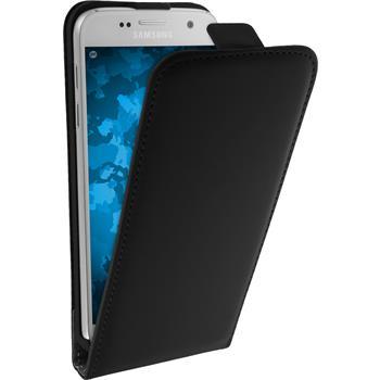 Kunst-Lederhülle Galaxy S7 Flip-Case schwarz