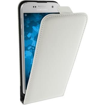 Kunst-Lederhülle für Samsung Galaxy S7 Flip-Case weiß + 2 Schutzfolien