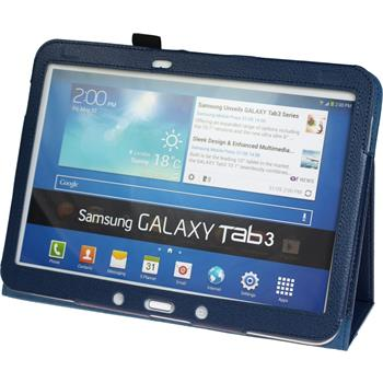 Artificial Leather Case for Samsung Galaxy Tab 3 10.1 Wallet blue