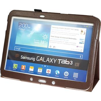 Artificial Leather Case for Samsung Galaxy Tab 3 10.1 Wallet brown