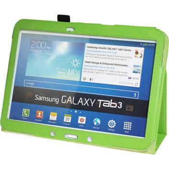 Kunst-Lederhülle Galaxy Tab 3 10.1 Wallet grün