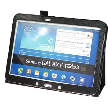 Artificial Leather Case for Samsung Galaxy Tab 3 10.1 Wallet black