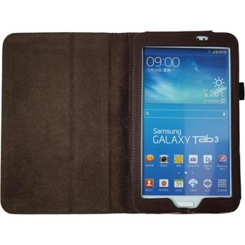 Artificial Leather Case for Samsung Galaxy Tab 3 7.0 Wallet brown