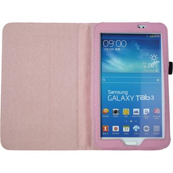 Artificial Leather Case for Samsung Galaxy Tab 3 7.0 Wallet pink