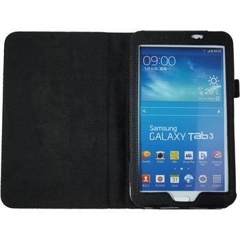 Artificial Leather Case for Samsung Galaxy Tab 3 7.0 Wallet black