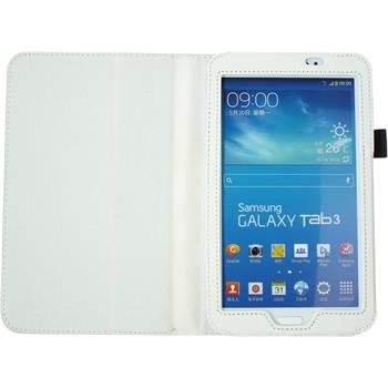 Artificial Leather Case for Samsung Galaxy Tab 3 7.0 Wallet white