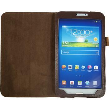 Kunst-Lederhülle Galaxy Tab 3 8.0 Wallet braun