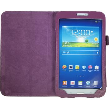 Artificial Leather Case for Samsung Galaxy Tab 3 8.0 Wallet purple